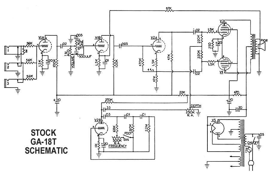 gibson ga 18 Wiring- Diagram  Vox AC30 Wiring How Works a Variac Step Down Transformer Wiring